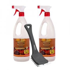 Kit Especial Limpa Grelha + Escova Aço para Churrasqueira