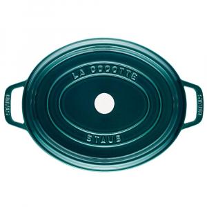 Staub La Mer - Caçarola Oval Ferro Fundido Turquesa 31 cm