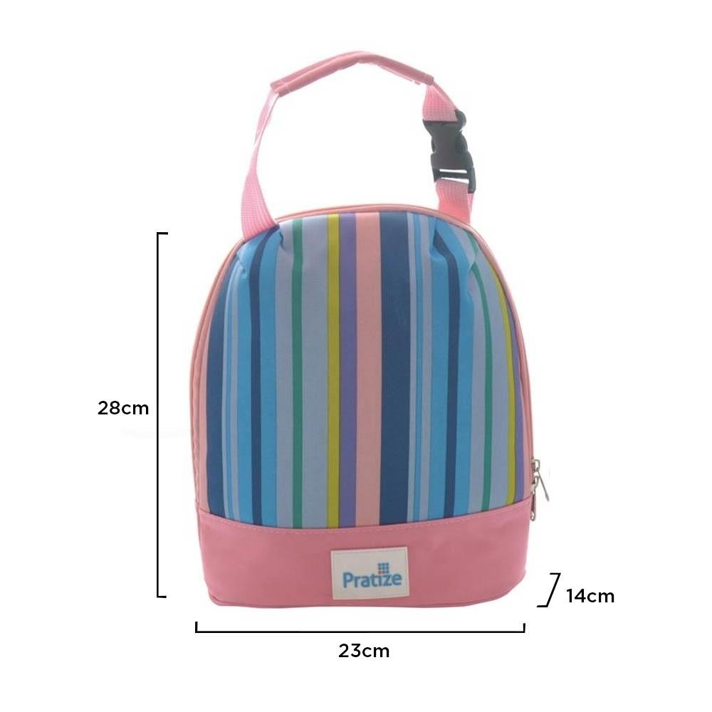 Lancheira Térmica Infantil Aluminizada Rosa 4,5 Litros - Pratize