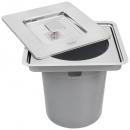 Tramontina Clean - Lixeira de Embutir Pia Aço Inox 5 Litros
