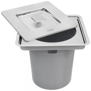 Lixeira Embutir Bancada Clean Square Inox 5L - Tramontina