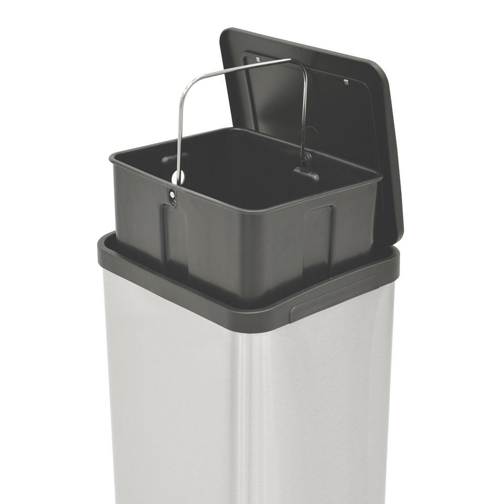 Lixeira Quadratta Pedal Inox 15L - Tramontina