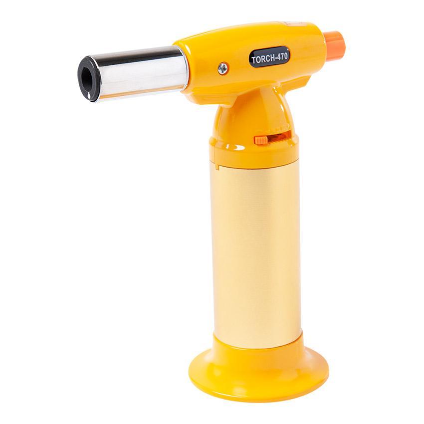 MaçaricoCulinário Recarregável Amarelo15 cm - Brinox