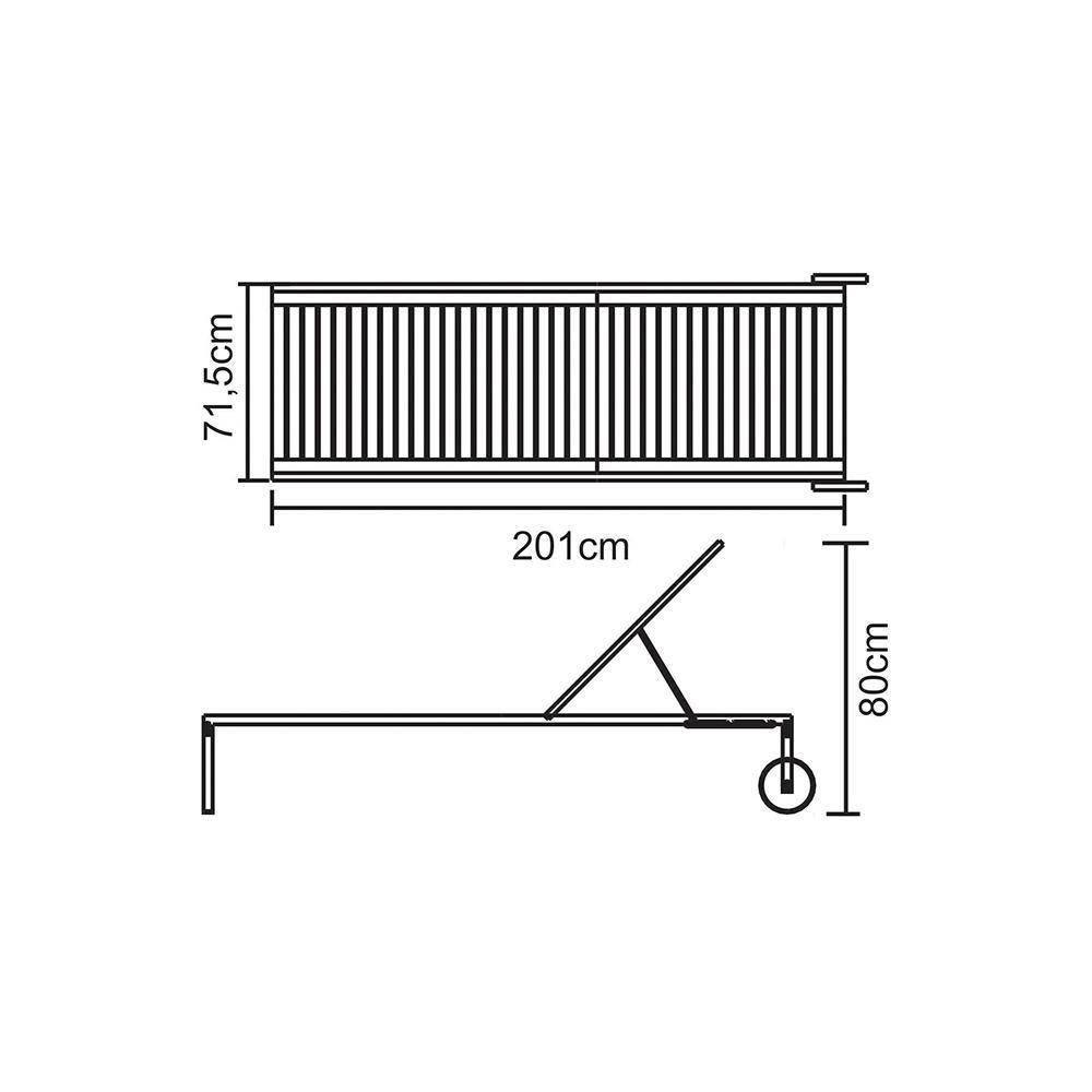 Kit Promoção 2X Espreguiçadeira Madeira e Inox Eco Blindage - Tramontina
