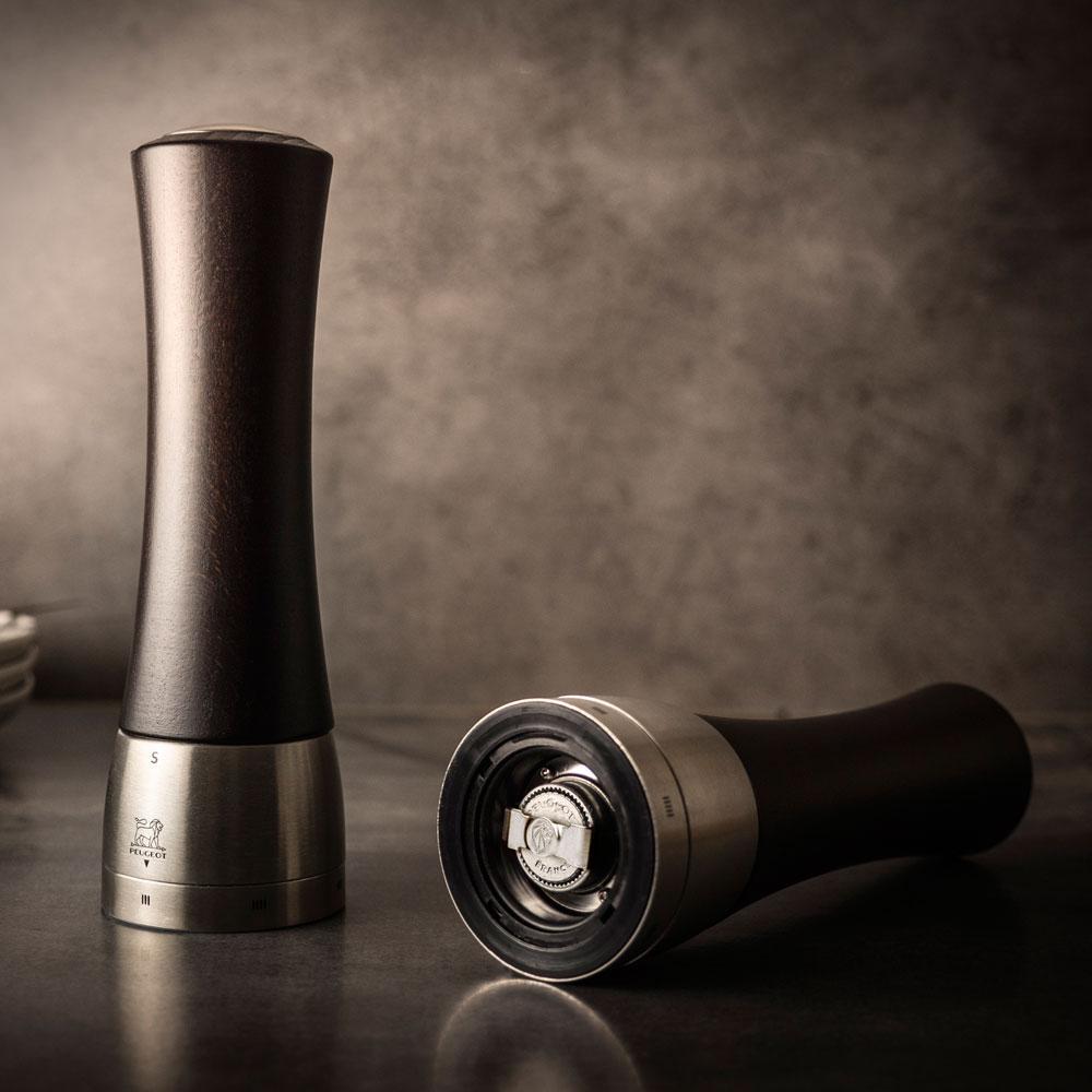 Peugeot Madras - Moedor Sal u'Select Chocolate Detalhe Inox 21 cm