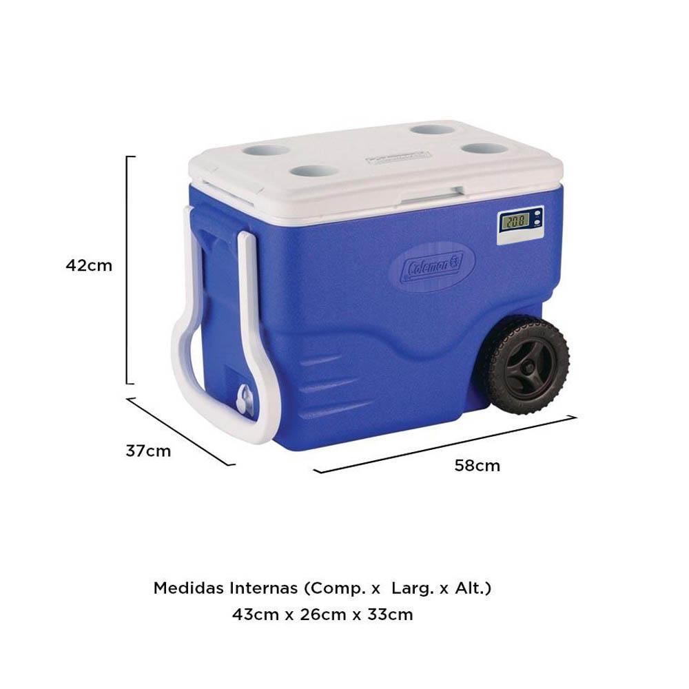 Caixa Térmica c/ Termômetro e Rodinhas 37,9 Litros - Coleman