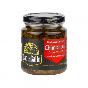 Molho Artesanal Chimichurri com Pimenta 160 g - Cantagallo
