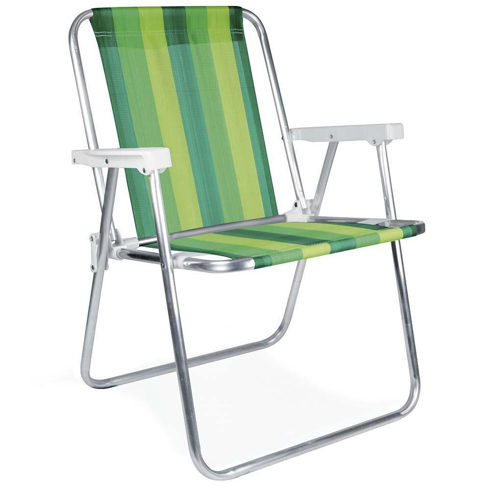 Cadeira de Praia Alumínio Alta (Estampa 2222) - Mor