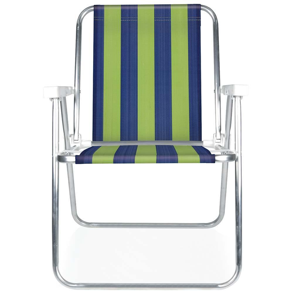 Cadeira de Praia Alumínio Alta (Estampa 2223) - Mor