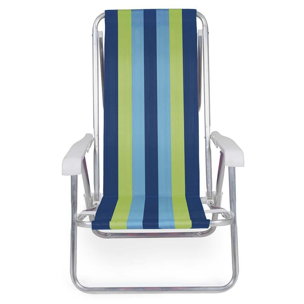 Cadeira Praia Reclinável Alumínio 8 Posições (estampa 2230) - Mor