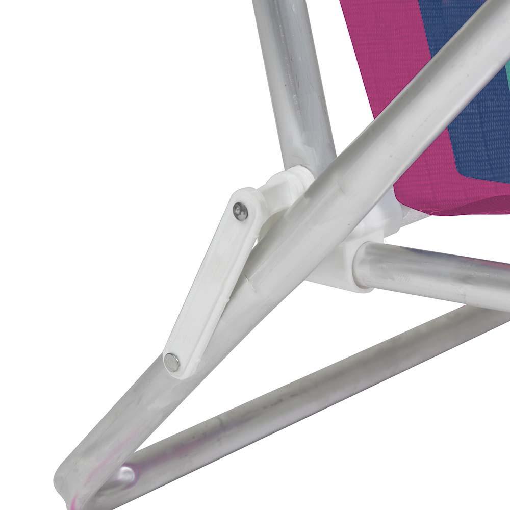 Cadeira Praia Reclinável Alumínio 8 Posições (estampa 2232) - Mor