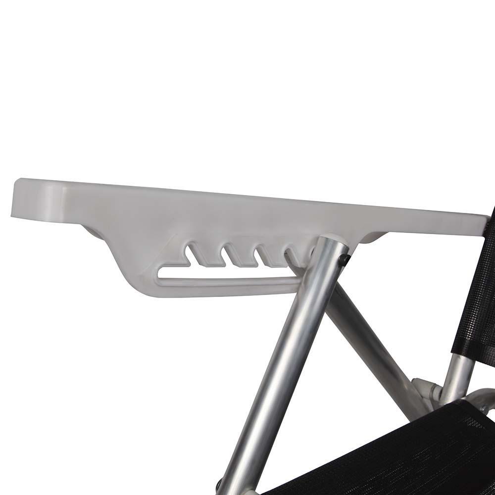 Cadeira de Praia Summer Reclinável Alumínio 6 Posições Preto - Mor