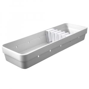 Organizador Facas Gaveta 5 Compartimentos Branco - Ou