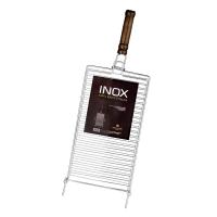 Grelha para Churrasqueira para Peixe Luxo 25 x 43 cm Inox - Grilazer