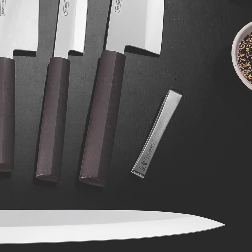 Pinça para Peixe Sushi Aço Inox 10 cm - Tramontina
