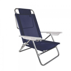 Cadeira de Praia Reclinável Alumínio 6 Posições Sol de Verão - Mor
