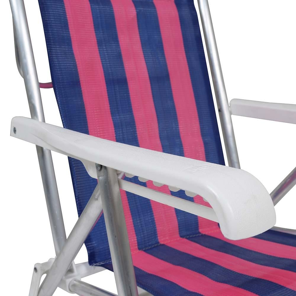 Cadeira de Praia Reclinável Alumínio 8 Posições (estampa 2231) - Mor