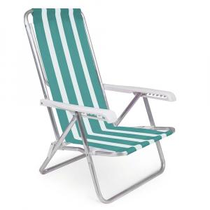 Cadeira de Praia Reclinável Alumínio 8 Posições (estampa 2233) - Mor