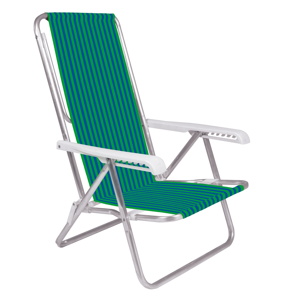 Cadeira de Praia Reclinável Mor - Alumínio 8 Posições