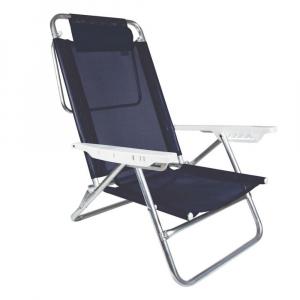 Cadeira de Praia Reclinável Alumínio com Travesseiro 6 Posições Sol de Verão - Mor