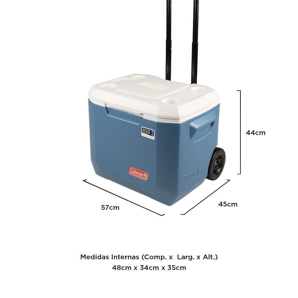 Caixa Térmica Termômetro Digital Rodinhas 47 Litros - Coleman