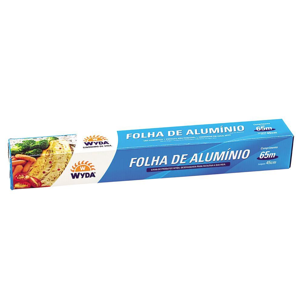 Rolo Papel Alumínio Embalagem Econômica (65m / 45cm) - Wyda