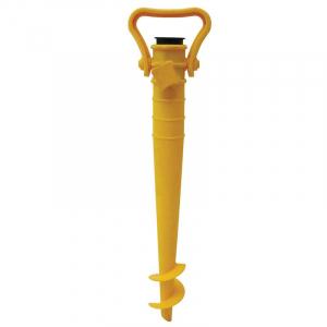 Saca-Areia com Suporte para Guarda-Sol Amarelo - Mor