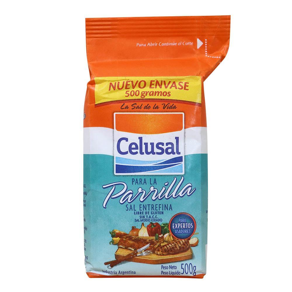 Sal Argentino Parrilla Refil 0,5 Kg - Celusal