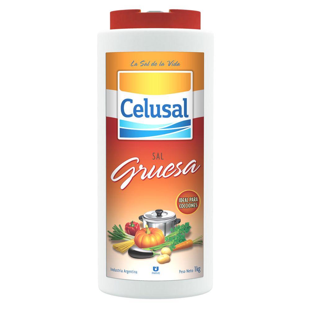 Sal Grosso p/ Churrasco Saleiro 1 Kg - Celusal