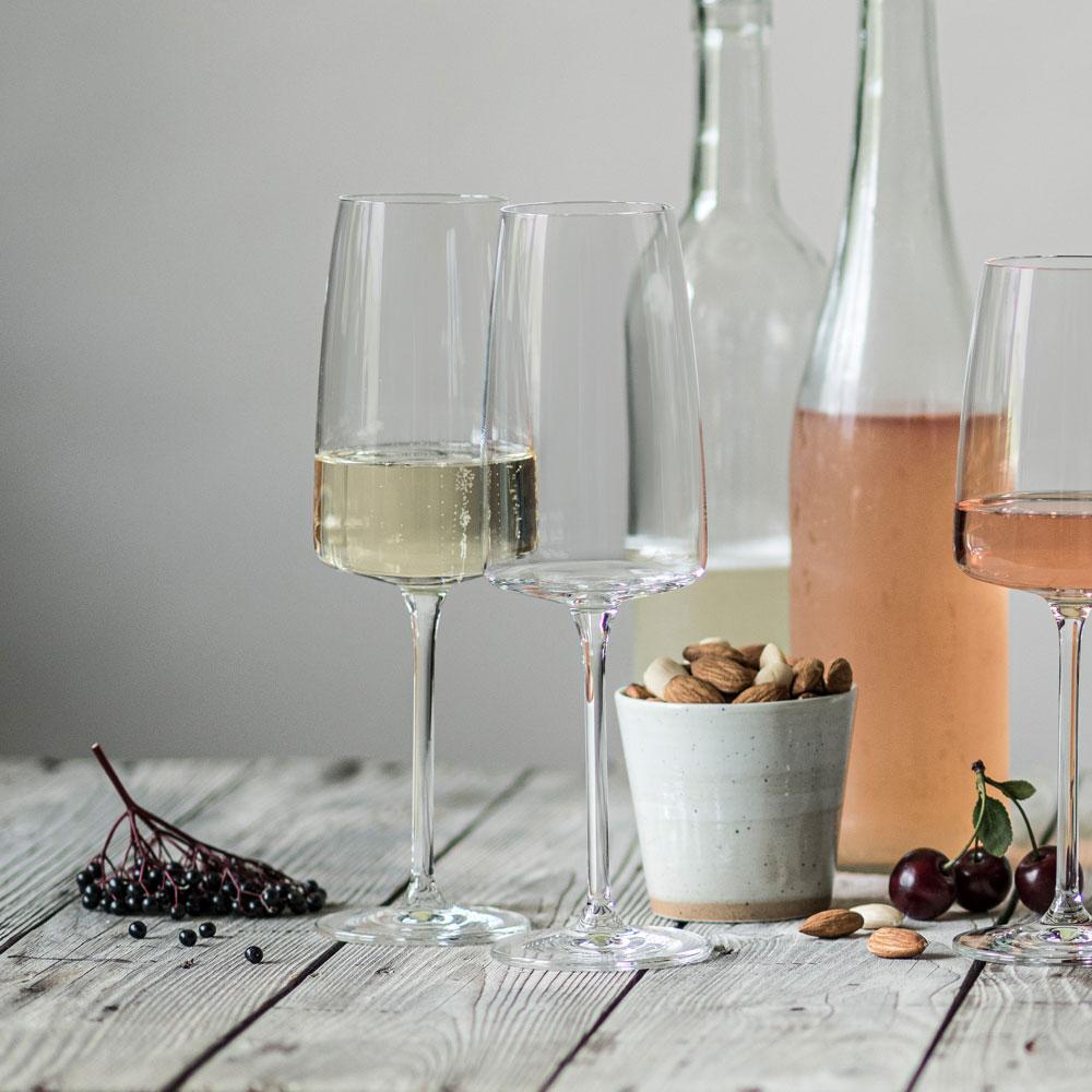 Schott Zwiesel - Kit 6X Taças Cristal (Titânio) Champagne Sensa 388ml