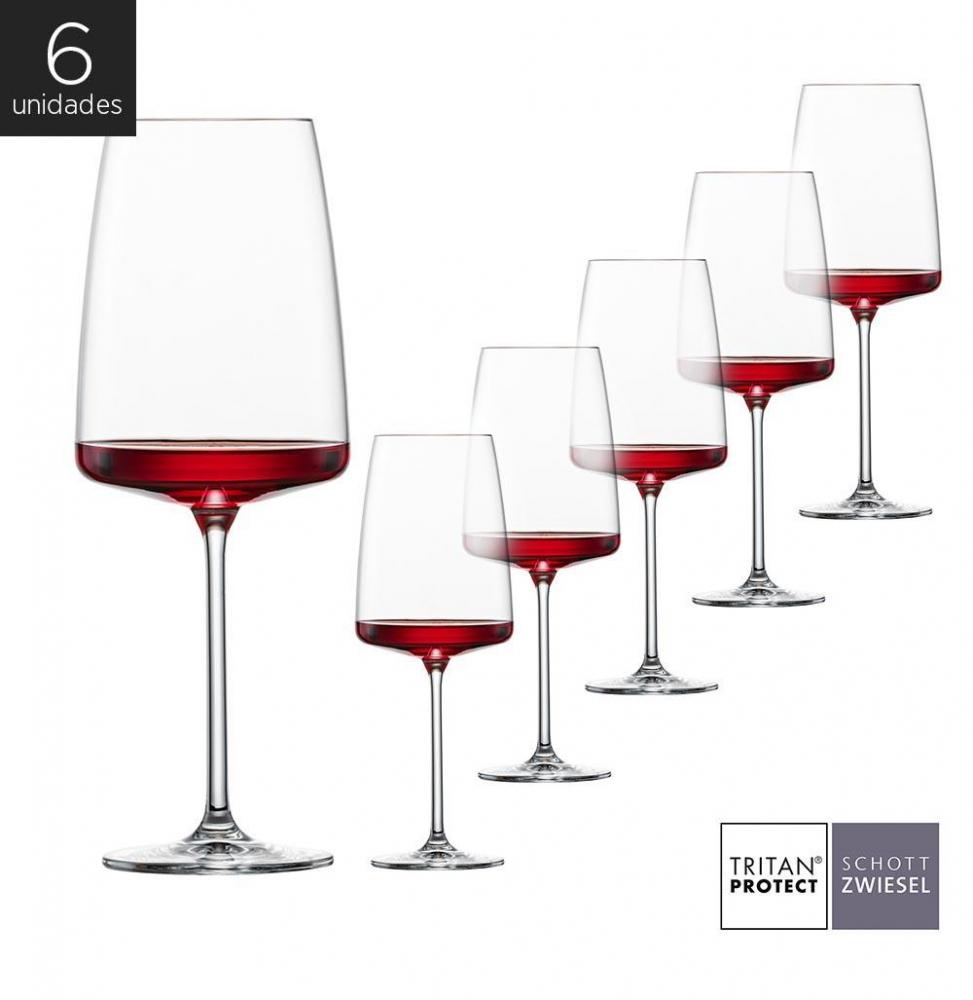 Schott Zwiesel - Kit 6X Taças Cristal (Titânio) Fruity & Delicate Sensa 535ml
