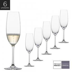 Schott Zwiesel - Kit 6X Taças Cristal (Titânio) Champagne Ivento 228ml
