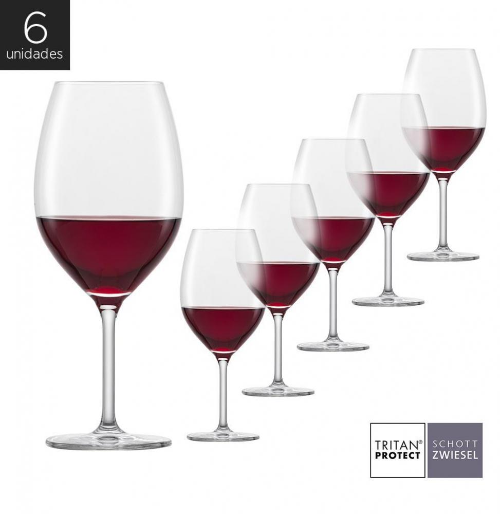 Schott Zwiesel - Kit 6X Taças Cristal (Titânio) Bordeaux Banquet 600ml