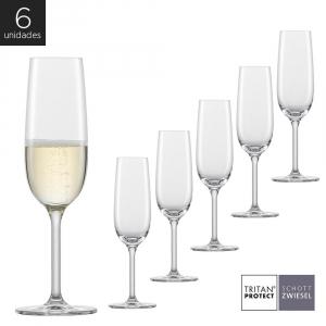 Schott Zwiesel - Kit 6X Taças Cristal (Titânio) Champagne Banquet 210ml