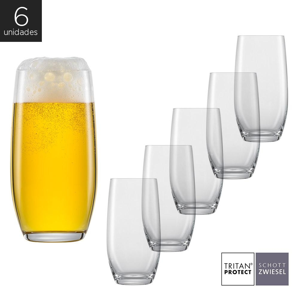 Schott Zwiesel - Kit 6X Copos Cristal (Titânio) Longdrink Banquet 430ml