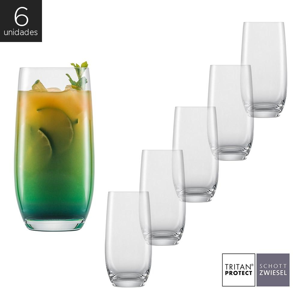 Schott Zwiesel - Kit 6X Copos Cristal (Titânio) Longdrink Banquet 540ml