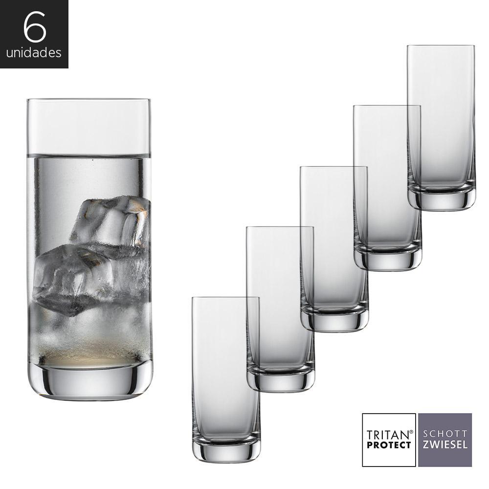 Schott Zwiesel - Kit 6X Copos Cristal (Titânio) Longdrink Convention 370ml