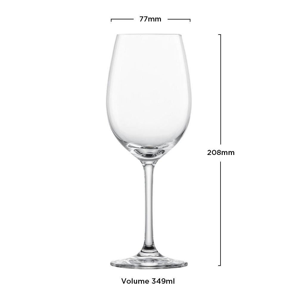 Schott Zwiesel - Kit 6X Taças Cristal (Titânio) Vinho Branco Ivento 349ml