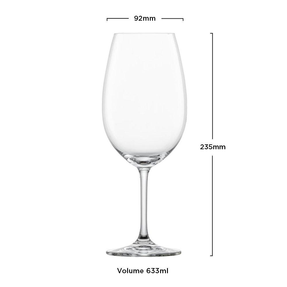 Schott Zwiesel - Kit 6X Taças Cristal (Titânio) Bordeaux Ivento 633ml