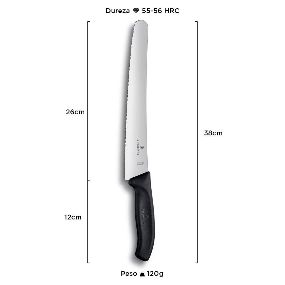 Faca Serra Profissional Swiss Classic 26 cm 6.8633.26G - Victorinox