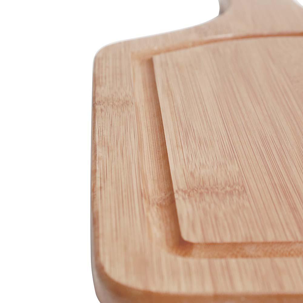 Tábua Churrasco p/ Servir Pequena 38,5 x 20,5 cm Bamboo - Mor