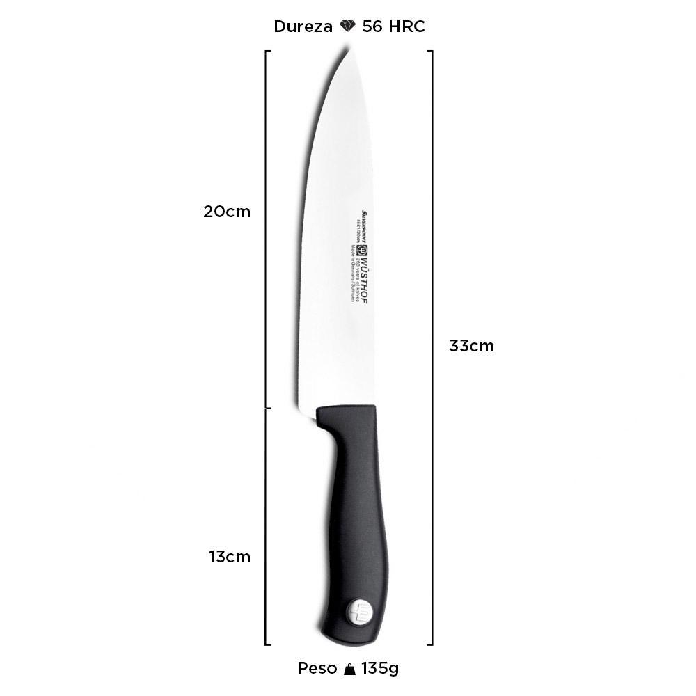 """Faca Wüsthof Chef Silverpoint 8"""" 4561/20"""