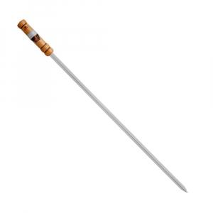 Espeto Canelado Cromado Linha Prata 85 cm (lâmina 70 cm) - Grilazer