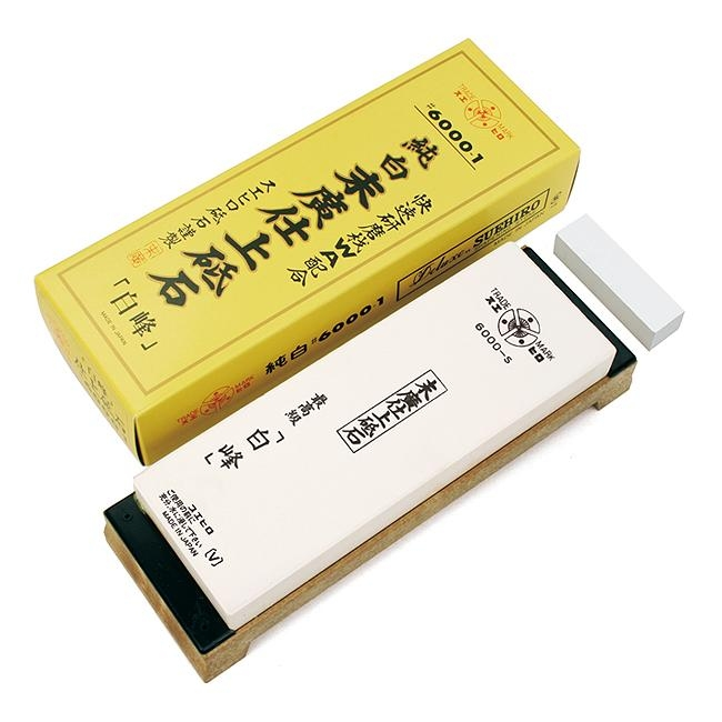 Pedra para Amolar Faca com Base Uso Profissional Deluxe #6000 - Suehiro