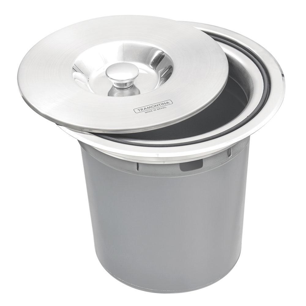 Tramontina Clean - Lixeira de Embutir Aço Inox 5 Litros