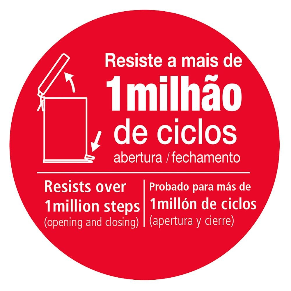 Tramontina Brasil - Lixeira c/ Pedal Aço Inox 30 Litros
