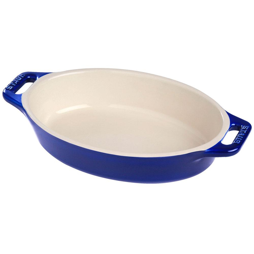 Travessa Oval Cerâmica Azul Marinho 23cm - Staub