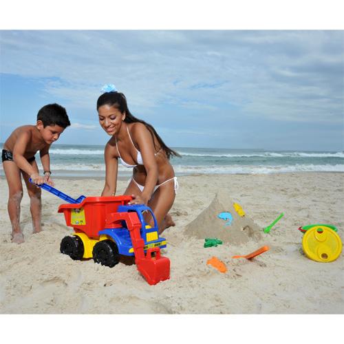 Truck Praia com Acessórios Clube do Siri 11 Peças - Mor