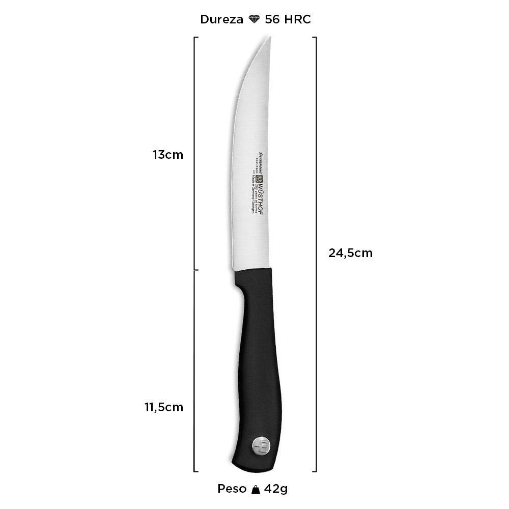 """Faca Wüsthof Steak Silverpoint 5"""" 4041/13"""