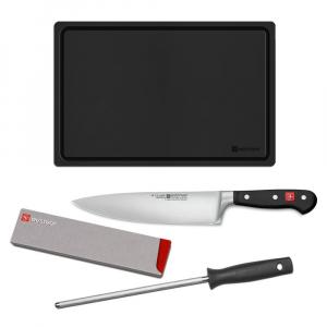 Wüsthof Starter Kit 4 Peças (Chef/Chaira/Protetor/Tábua) Classic 9755-9